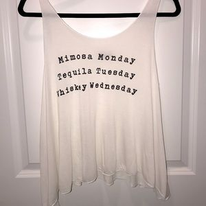 Mimosa tequila whiskey tank top